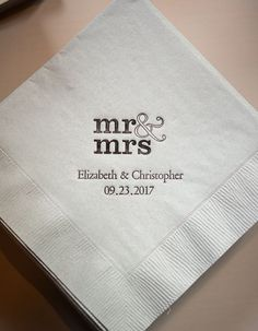 Styled Shoot: Chic Industrial Wedding Reception Ideas from Weddingstar - custom napkin