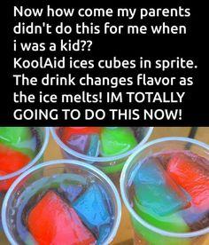 Kool Aid Ice Cubes & Sprite