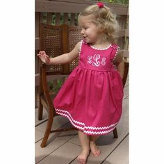 adorable monogramed dress. just in time for spring!