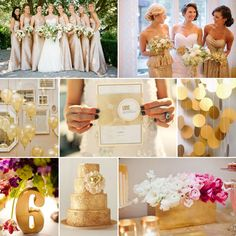Gold Wedding Inspiration - Wedding Flower Trends for Summer and Fall 2014! http://blog.fiftyflowers.com/wedding-flower-trends-for-summer-and-fall-2014/