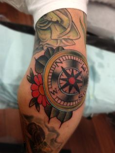 compass tattoo elbow - Google Search