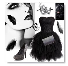 """""""Black swan"""" by rene9578 on Polyvore featuring Target, Masquerade, Tom Ford and Black Swan"""