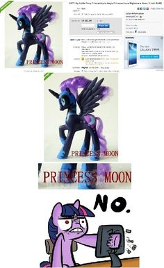 Everypony bow down to your new leader, Princess Moon!..... nooo its princess luna!!!