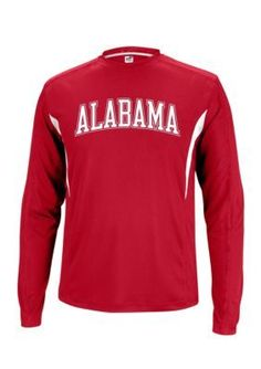 J. America  Alabama Crimson Tide Polyester Long Sleeve Tee with Side I
