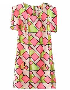 Indressme | Geometric shift panelled chiffon dress style 235401 only $34.68 .