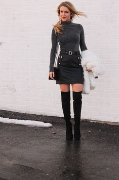 A Little Bit o' Leather// Topshop leather skirt// Every Once in a Style