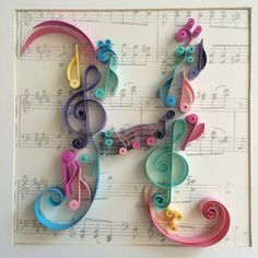 Quilling Monogram H - Quilled Paper Art Quilling Images, Quilling Letters, Paper Quilling Flowers, Quilling Animals, Paper Quilling Patterns, Paper Quilling Jewelry, Quilled Paper Art, Quilling Paper Craft, Paper Crafting