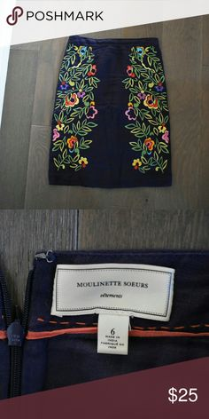 Anthropologie Floral Skirt Not worm too much. Make me an offer. Anthropologie Skirts Midi