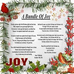 Christmas Rubies In My Treasure Box: A Bundle Of Joy - NEW A Christmas Story, Christmas Fun, Christian Poems, Songs, Box, Boxes
