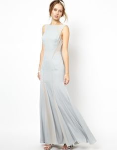 Enlarge Jarlo Daimond Fishtail Maxi Dress with Mesh Insert BRIDESMAID ATTIRE