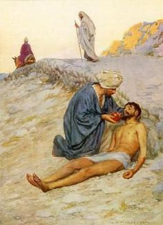 Paintings William Henry Margetson | The Good Samaritan Artwork by William Henry…