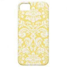 i Phone 5 Lemon Damask Pattern iPhone 5 Case