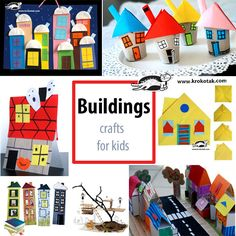 Buildings - crafts for kids
