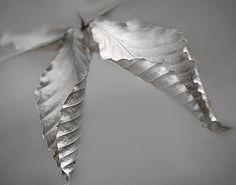 Foliage Silver Gray Photography Winter Leaves Pale by dorataya, $18.00