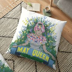 Pillow Design, Top Artists, Floor Pillows, My Arts, Vibrant, Queen, Art Prints, Things To Sell, Art Impressions