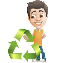 Male Behind Eco Symbol Free Vector