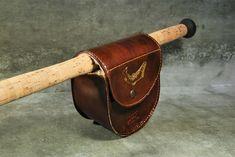Original handmade leather fly fishing reel case #flyfishingreels