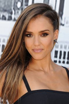 Get the look: Jessica Alba's faux undercut hairstyle - Celebrity Hair News on GLAMOUR.COM UK