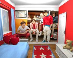One Direction JD Campervan - fototapeta - 270x253 cm  Gdzie kupić? www.eplakaty.pl