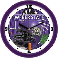 Mens Weber State Wildcats - Football Helmet Wall Clock