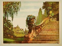 IX 9a. Zahrada-Pozadí. Garten-Hintergrund. Jardin-Fond. Garden-Back Ground. [Neue Ausgabe]