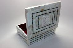 Professional Handmade Full Mother Pearl Jewelry White Box Rectangular Shape