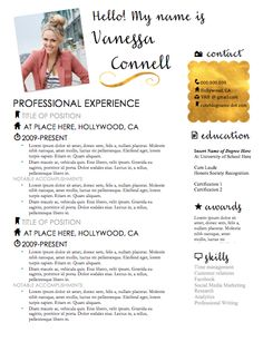 The Jane Austen Resume Design  Custom Resume Elegant Resume