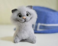 Felt doll Felted animals Collectible dolls Unique by VladaHom