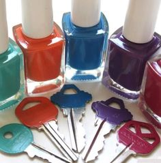 DIY organizing - color code your keys with nail polish! Tip Tuesday | NEAT Method #diy #neatmethod