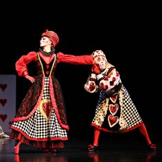 The Royal couple (Gareth Belling and Kathleen Doody) demonstrates how to dance and argue simultaneously. Francois Klaus's Alice in Wonderland, 2012.
