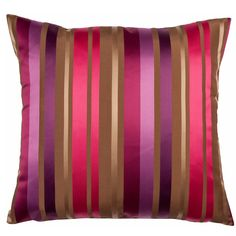 Rapture Rose Striped Cushion Striped Cushions, Scatter Cushions, Floor Cushions, Throw Pillows, Patterned Furniture, Soft Furnishings, Rainbow Colors, Color Splash, Decorating Your Home