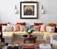 Floor Pillows on Custom Built Platform - Click Pic for More Ideas - Floor Cushion Ideas