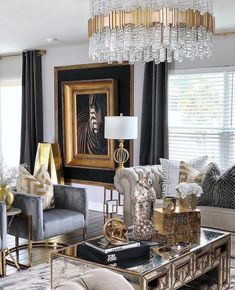 Looking to freshen up your home decor? Get inspired by hundreds of photos and room tours of some of the South's most beautiful homes living room decor livingroom ideen grau Decor, Living Room Decor Cozy, Living Room Decor Apartment, Living Room Designs, Glam Living Room, Elegant Living Room, House Interior, Apartment Decor, Gold Living Room