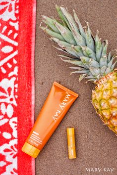 Sand. Pineapple. Sunscreen. It's summertime! Bring the islands to your own backyard with Mary Kay® Subtle Tanning Lotion and Sun Care Lip Protector Sunscreen Broad Spectrum SPF 15*!