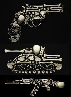 """ The Bones of War Bone Art by Francois Robert: Stop the Violence Human bones, any bones, are signifiers of death, decay- in more poetic terms- the ephemerality of. Human Skeleton, Skeleton Art, Activist Art, Instalation Art, Protest Art, Skull And Bones, Skin Art, Art Plastique, Dark Art"