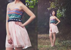 Hmong Pink and Green Sweet Heart Dress by Xweets on Etsy