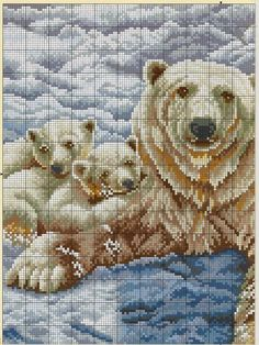 FREE CROSS POINT GRAPHICS: PANDA AND BEARS (24)