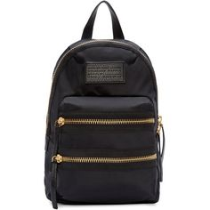 Marc By Marc Jacobs Black Domo Arigato Mini Packrat Backpack ($155) ❤ liked on Polyvore featuring bags, backpacks, black nylon bag, marc by marc jacobs, black backpack, mini backpack and zip bags