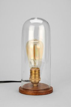 Cloche Lamp really want this on my desk