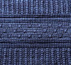 Ms Weaver's Tunisian star stitch texture. Ravelry: Winter Nocturne Shawl pattern by Yuliya Tkacheva