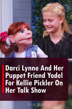 When Darci Lynne Farmer won 'America's Got Talent' in 2018, she brought with her a cast of puppet characters big on personality and talent. Her first puppet ever was a yodeling cowgirl named Katie, and it was Katie that she brought during a visit to the 'Pickler & Ben' country talk show. #Entertainment #AGT #KelliePickler #DarciLynne #Ventriloquist #Puppets #Yodeling #Singing America's Got Talent Videos, Ventriloquist Puppets, Kellie Pickler, Tyra Banks, Looking Back, Farmer, Personality, Singing, It Cast