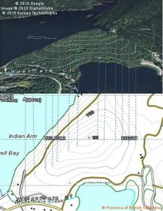 Topographic maps and contour lines