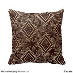 African Design Throw Pillows
