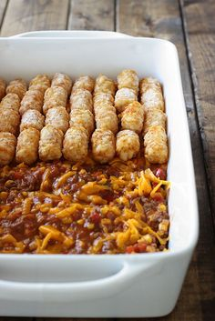Sloppy Joe tater tot casserole is both quick and easy and kid friendly. With all the flavors you love in a Sloppy Joe and the fun of tater tots!