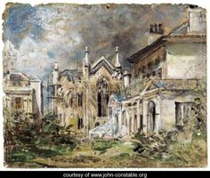 The Gothic House, Sillwood Place, Brighton - John Constable - www.john-constable.org
