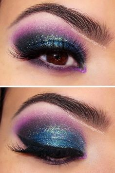 Turquoise Smokey eye...would love to wear this just don't know where!