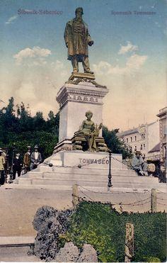 Slike starog Šibenika (spomenik Tommaseo) / pictures of old Sibenik (Tommaseo Monument) / Sibenik historische Bilder (Tommaseo Denkmal)