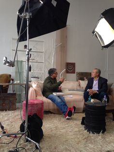 #Deepakchopra & #DrWilliamDavis discuss the effects of wheat on your body on the #ONEWORLD set at #ABCHome