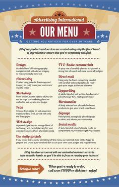 American diner menu design.