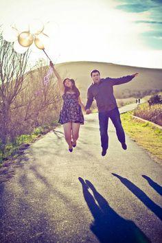 fremont engagement photography photo balloons